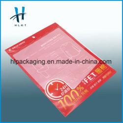 De PE d'impression personnalisée LDPE dépoli Poly vêtement plate en plastique à fermeture éclair sac de l'emballage curseur