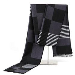 熱い販売法の人のための流行の灰色の厚く暖かい冬の長く編まれたスカーフ