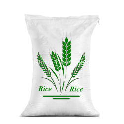 10kg 25kg 50kg 100kgsの米の砂糖の小麦粉のファブリックシートが付いているプラスチック白PPによって編まれる包装袋