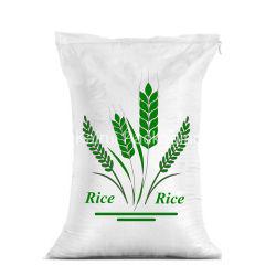 De fabriek Afgedrukte 10kg 25kg 50kg Zak van de Bloem van de Suiker van de Rijst Plastic Witte pp Geweven Verpakkende met het Blad van de Stof
