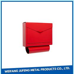 Современные оцинкованные стальные металлические Wall-Mount почтовый ящик шкафчик -0418L