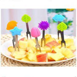 Parti de haute qualité aux fruits colorés Fourche Fourche de fruits de silicone