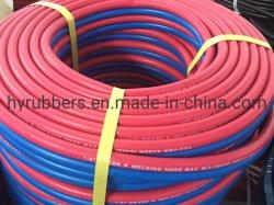 Couleur rouge et bleu GOST9356-76 flexible de soudage