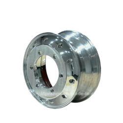 Pulido ensayó para trabajo pesado cubo de aluminio forjado Ruedas del remolque del camión de la llanta (22,5x13 22,5x14, 22,5X11.75)