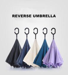 高いQuliatyの昇進の習慣Cの形のハンドルの防風車によって逆にされる逆の傘