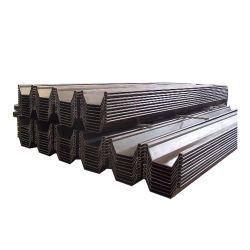 Matériau de construction en acier en forme de U pour l'eau de palplanches d'utilisation d'arrêt