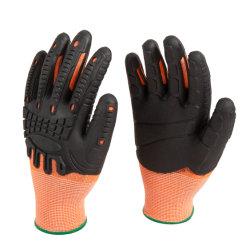 TPE völlig beschichtete stoßfeste Anti-Vibrations- u. Ausschnitt-Sicherheits-Arbeits-Handschuhe