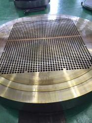 炭素鋼SA36 SS41 CNCの訓練の機械化の熱交換器の管シートのバッフルサポート版の管はTubesheetsをめっきする