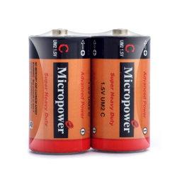 De geavanceerde Droge Batterij van het Jasje van pvc van de Macht 1.5V R14/C