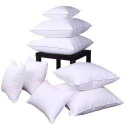 폴리에스테르섬유 충전물을%s 가진 연약한 많은 면 쉘 직물 호텔 베개