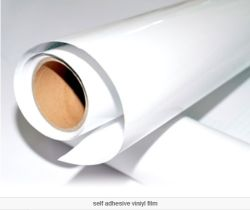 Eco溶媒印刷のための明るい白PVC自己接着ステッカー
