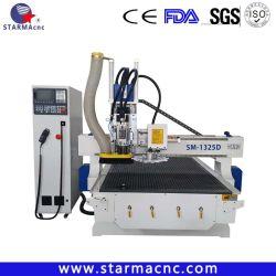 Cambiamento automatico della tagliatrice di Jinan della macchina del router di CNC delle lame