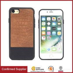 نمط التماسيح الجديد جلديًا أصلية متخلفة حقيبة هاتف حماية مختلطة
