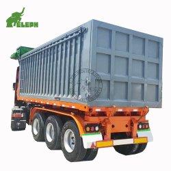 3 ESSIEUX 20ft 40FT Longueur semi-remorque de chariot hydraulique de levage du chargeur de conteneur