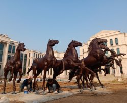 Statua Bronze d'ottone del cavallo del cavallo del pezzo fuso del giardino esterno Bronze della scultura