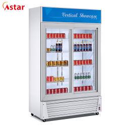 سعر رخيص عرض المشروبات/عرض الأبواب المزدوجة الزجاج/الباب المنزلق مع شهادة CE