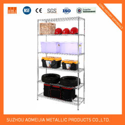 Periódico Estantería Metálica de malla de alambre/Estanterías de almacenamiento/ajustable estantería metálica de malla de alambre