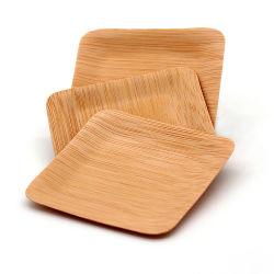 Het bamboe plateert het Houten Bestek van de Platen van Platen Beschikbare Houten