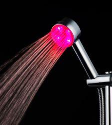 カラフルな LED ハンドヘルドシャワーヘッドバッテリなし