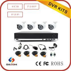H. 264 4CH combo DVR Caméra de vidéosurveillance Ahd Kit DVR