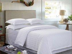 Hôtel de gros de la literie 100%ensembles de literie en coton blanc linge de lit d'hôtel de luxe / Bedding Set / Draps de lit, de matériel de douceur