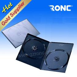 Amostra grátis 7mm de retângulo preto DVD duplo único caso