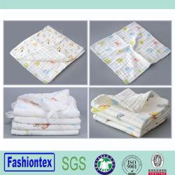 Comercio al por mayor de bebé muselina lavado personalizado Imprimir toalla toalla bebé recién nacido