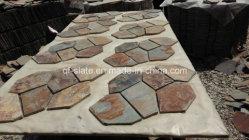 Высокое качество многоцветные Slate плитки для Flagstone коврики камня