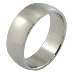 Aço inoxidável anéis de casais Fosco para homens