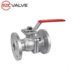 2PC ANSIのステンレス鋼は製造者中国からの球弁のフランジを付けたようになった