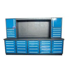 نظام تخزين الجراج طاولة عمل مدمجة متعددة الوظائف لحلقة العمل