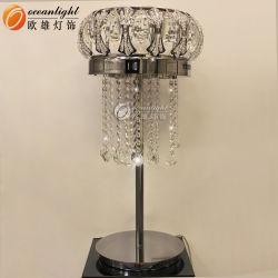 Cristallo Lampshade telaio in acciaio inox lampada da tavolo moderna e lettura Leggero