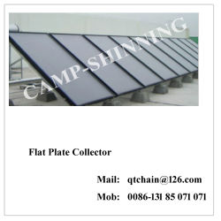 Placa plana vidrada Colectores solares/Chapa lisa coletor solar por preços/Coletor de placa plana da China Solar