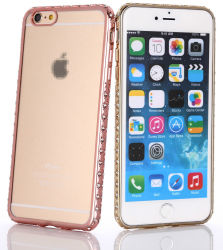 iPhone6のためのダイヤモンドElectroplated Soft TPU Case