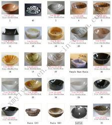 Natural en marbre/granit/Travertin Onyx//bols en pierre calcaire et de basalte/lavabo/ Art lavabo