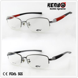 FDA van uitstekende kwaliteit Kf5025 van Ce van de Glazen van het Frame van het Metaal Halve Optische