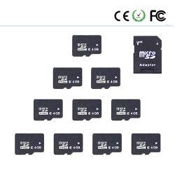 Carte mémoire 4 Go de capacité réelle Micro SD complète la carte de TF