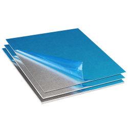 الألومنيوم/الألومنيوم المخصص في المصنع عادي/مسطح/لوحة مع غشاء من البولي إيثيلين على جانب واحد 1050/1060/1100/1235/3003/3102/8011