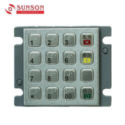Code PIN numérique clavier braille en métal pour l'UPT