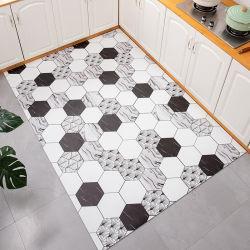 Tapetes e tapetes de cozinha sem escorregar tapetes de cozinha impressos à prova de água Aspirador confortável para adultos em PVC Anti fadiga Casa de banho