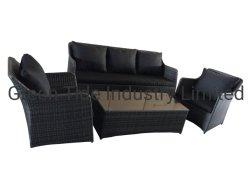 Jardín al aire libre alumbre sofá mimbre muebles de ratán