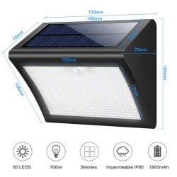 La Chine Fabricant étanche Lumière solaire de jardin LED solaire en plastique de plein air le capteur de mouvement de paroi hors de prix bon marché de la lampe témoin