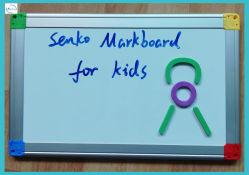 Маленький белый маркер для игры для детей и чертеж 20x30см