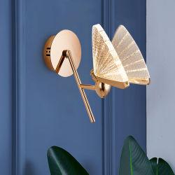 غرفة المعيشة البسيطة ما بعد الحداثة غرفة النوم مصباح حائط Butterfly Bedside LED (واط في الساعة أو 55)