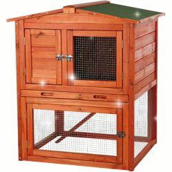 Todo en un perro de tamaño extra grande casas de madera de exterior de la conejera de conejo de la casa de pequeños animales jaula para mascotas con techo impermeable Coop de conejo con bandeja extraíble y rampa Farmhous