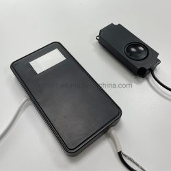 Comando a sfioramento a specchio LED da 220 V per driver bulit-in da 30 W impermeabile per interruttore sensore a sfioramento a specchio per bagno per specchio LED CE RoHS IP44 (dimmer, altoparlante Bluetooth)