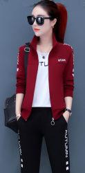 中年および古い母の秋の摩耗 Sportswear 中間老化させた女性の西部 スタイルは、新しいジャケットフリースパンツに最適です