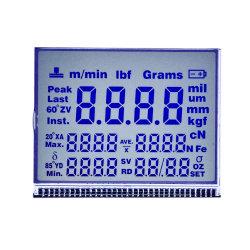 Tamanho personalizado de fábrica 7segmento pequeno painel LCD para medidor de energia
