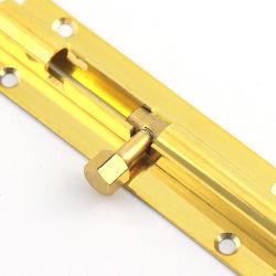 Porta de alumínio Janela de madeira Ferragens Padbolt perfil de alumínio ferragens de aço latão deslize a trava de segurança da porta de travamento do parafuso de torre