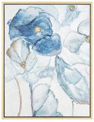 /Floral Acuarela azul marfil mano Adorno Óleo sobre lienzo de pared arte de pared de imágenes de la pintura para Salon Decoracion Ol-2006295 Tamaño 30x40 pulgadas